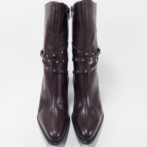 A Marinelli Healed Leather Boots - Size 7.5M